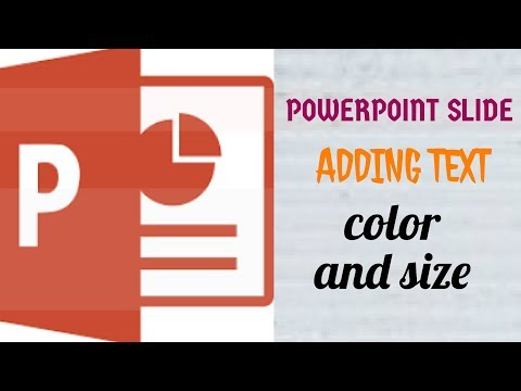 PowerPoint: Adding Text ,color and Text smaller or Bigger[ Bangla Tutorial ]