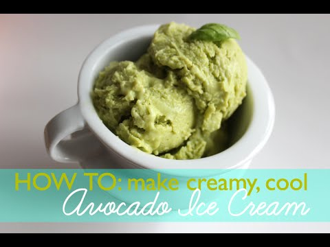 DIY: How to Make Avocado Ice Cream without an Ice Cream Maker!