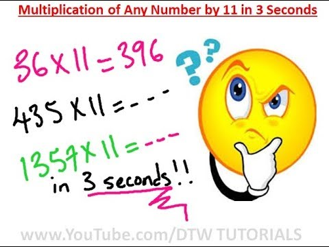 How to Multiply Any Number by 11 in 3 Seconds | Maths Trick