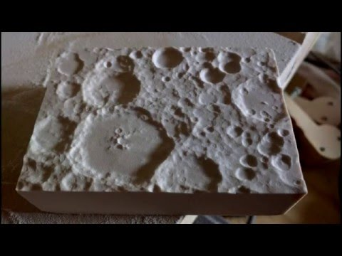 Carving the Surface of the Moon (Short Version)  - CNC Project