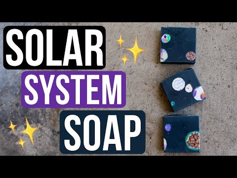 Solar System Soap (w/ Soap Scrap Embeds) | Royalty Soaps