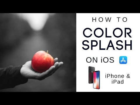 How to do Black and White Background Color Splash Effect on iPhone