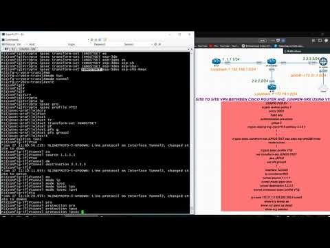 SITE TO SITE IPSEC-VPN  BETWEEN  JUNIPER SRX and CISCO-ROUTER  USING VTI