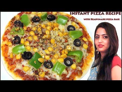 Pizza recipe | instant pizza recipe with Readymade pizza base | by manisha