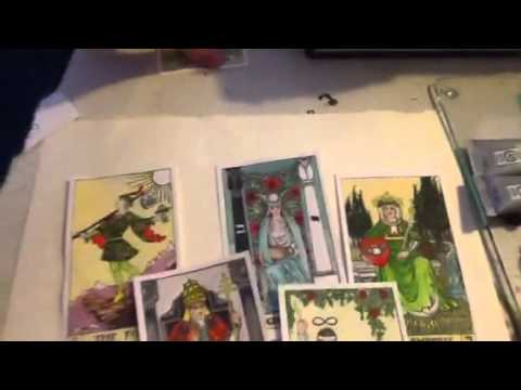 Painting your own Tarot Cards