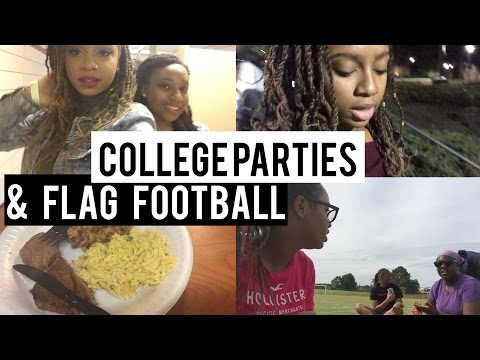 COLLEGE VLOG [1] || Parties & Flag Football