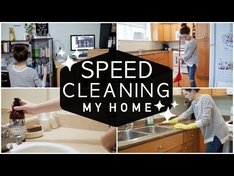 CLEAN WITH ME! || ULTIMATE SPEED CLEANING 2018
