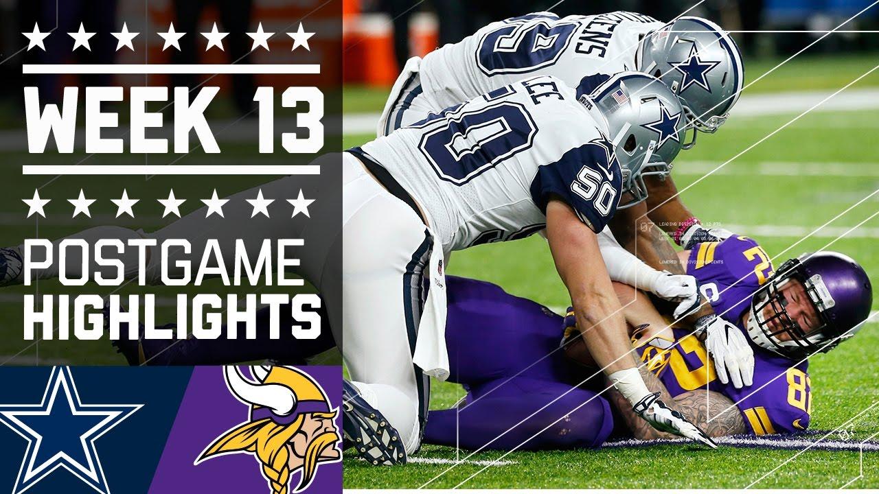 Cowboys vs. Vikings   NFL Week 13 Game Highlights