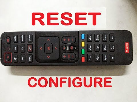 how to reset Airtel digital tv universal  remote, Airtel DTH remote
