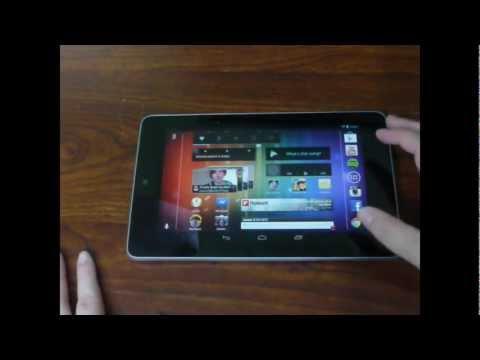Google Nexus 7 Update: Landscape Home Screen!