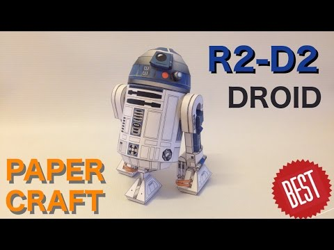 How to make Best Free paper R2-D2 PaperCraft
