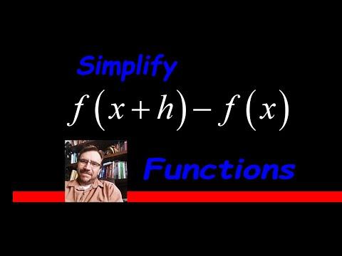 Simplify f(x+h) - f(x)