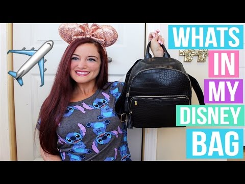 PACKING FOR WALT DISNEY WORLD. WHAT'S IN MY DISNEY BAG 2016 | LUGGAGE. CARRY ON. PARK BAG.