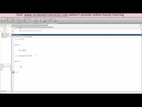 MATLAB Rounding Functions (Basic)