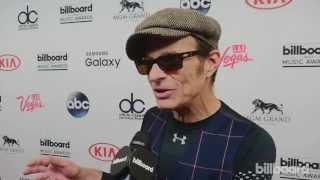 David Lee Roth backstage at the Billboard Music Awards 2015