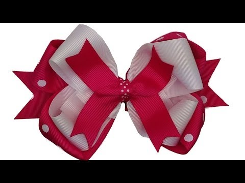 How To Make Stacked Hair Bows
