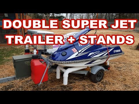 CUSTOM DOUBLE JETSKI TRAILER for standup SuperJets dual pwc