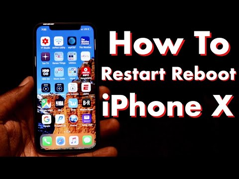 How To Restart And Reboot iPhone X