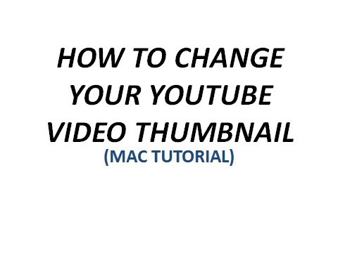 How to change your youtube video thumbnail(YT tutorial)