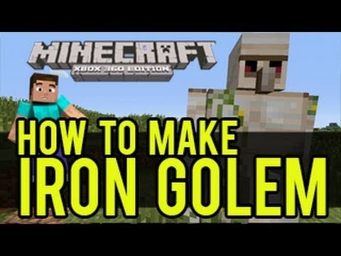 Minecraft Survival PS4 - How To Make A Iron Golem - Body Guard Trophy Guide