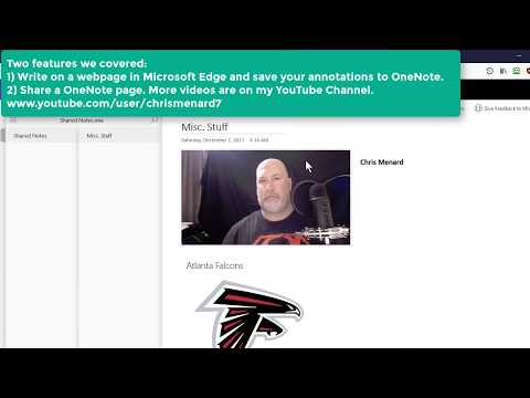 OneNote - Save webpage annotations to OneNote and share a single page by Chris Menard