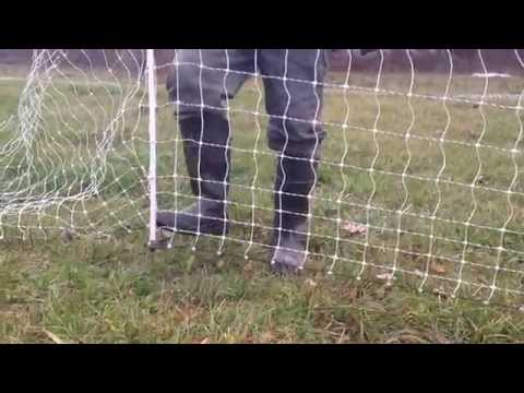 Setting up electric fences for chickens