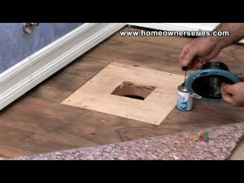 How to Fix a Toilet - Wooden Sub-Flooring Flange Repair - Part 3 of 3