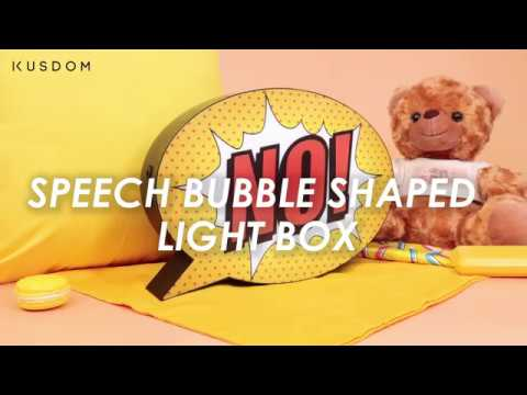 Speech Bubble Shaped Light Box - Design Your Own