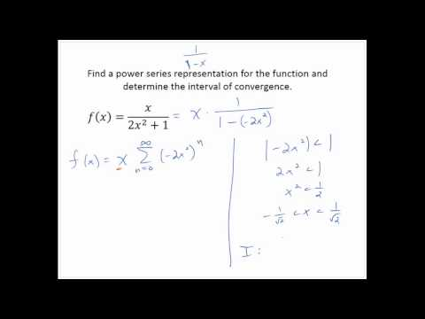 Representations of Functions as Power Series