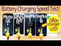 Moto G6 Vs Redmi Note 5 Pro Vs RealMe 1 Vs OnePlus 6 -BATTERY Charging Speed Test!🔥🔥