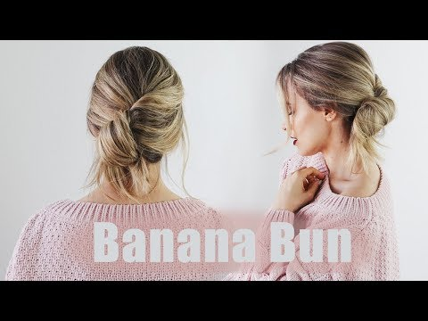 Banana Bun - 5 minute bun tutorial for any hair type | KayleyMelissa