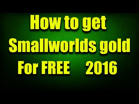 How to get Smallworlds Gold for FREE! | 2016 | Tutorial