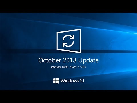 Cumulative update for Windows 10 version 1809 - December 2018 Patch Tuesday!
