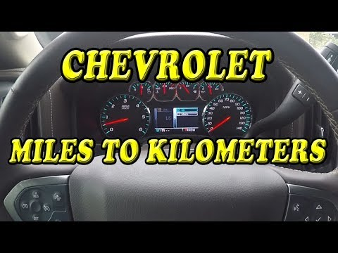 CHEVROLET SILVERADO CHANGE FROM MPH TO KMH