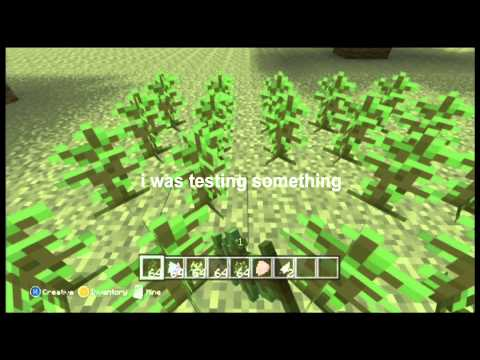 How to grow a huge jungle tree. Minecraft xbox edition. TU12