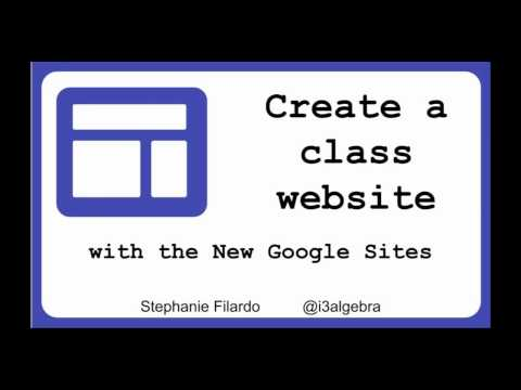 Create a Class Website with New Google Sites