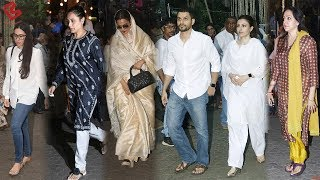 Rani, Rekha, Karisma, Hema SPOTTED At SHASHI KAPOOR