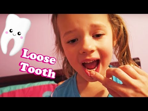 LOSING A TOOTH!!! Ava's First Lose Tooth + Playing In A Little Tikes Bounce House Vlog