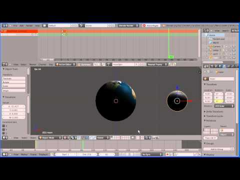 Blender Animation Tutorial Making the Moon Orbit the Earth Using the Action Editor Part 2 Moon