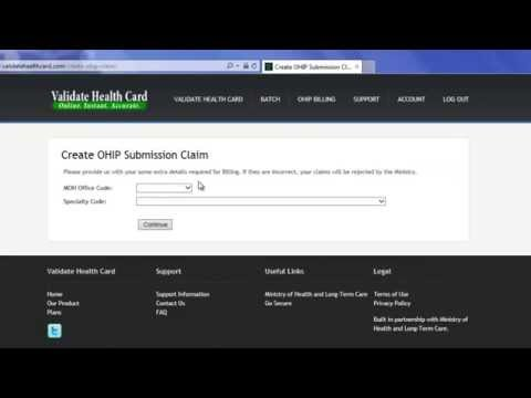 Validate Health Card | How To Create an OHIP Submission File