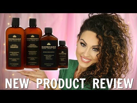 TESTING OUT DARSHANA PRODUCTS ON CURLY HAIR | The Glam Belle