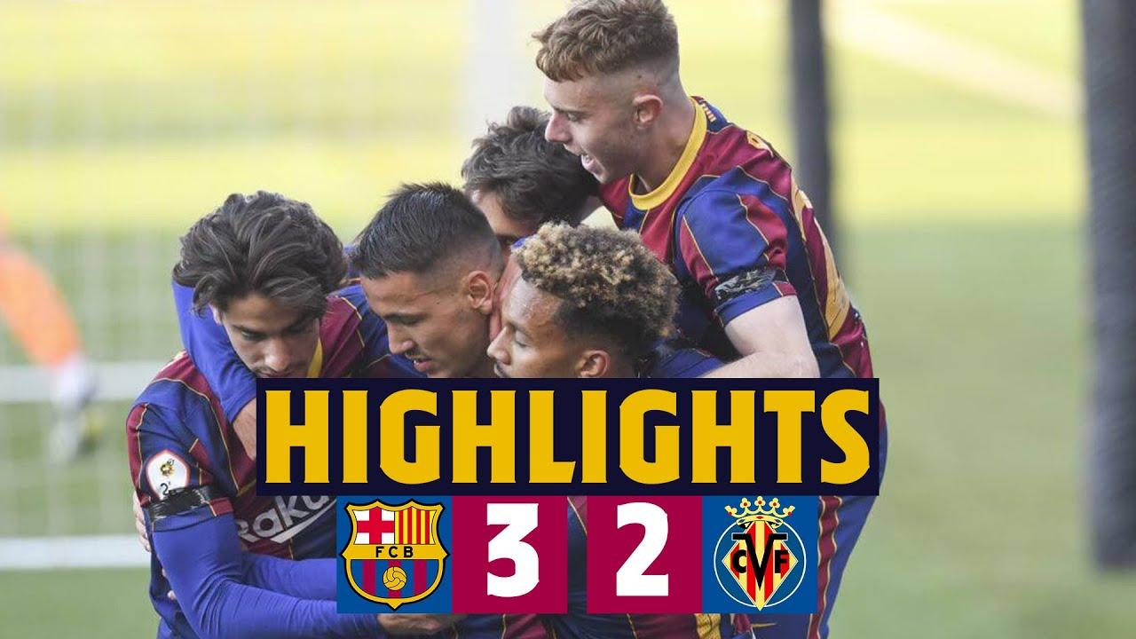 ⚽ HIGHLIGHTS   Barça B 3–2 Villarreal B   Hard-fought victory 💪🔥