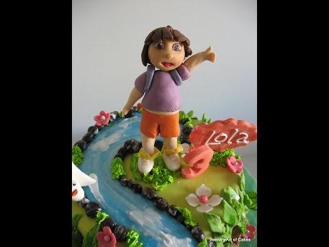 Fondant Cake Decorating - How to make Dora the Explorer