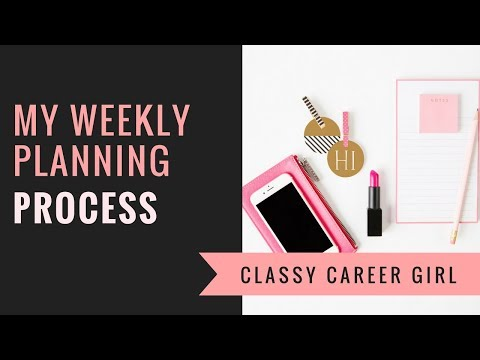 My Weekly Planning Process - How I Stay Productive