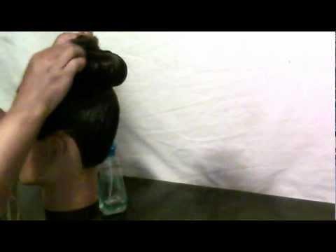 How to make a high bun with wet hair.Cute Hair Creations