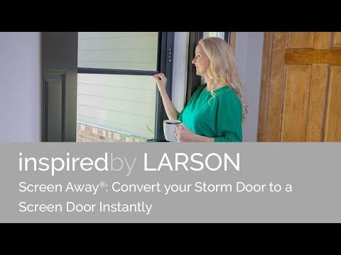 Screen Away Doors converts Storm Door to a Screen Door