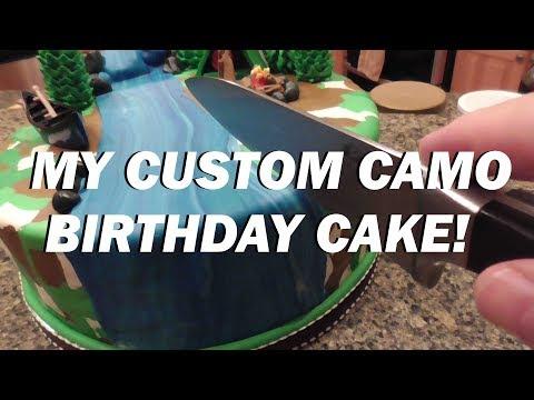 A RIVER RUNS THROUGH IT: My Awesome Custom Camo Birthday Cake!
