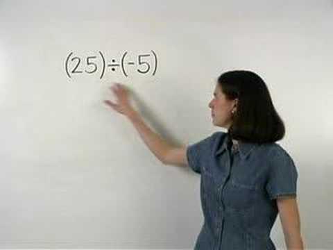 Dividing Integers - MathHelp.com- Math Help