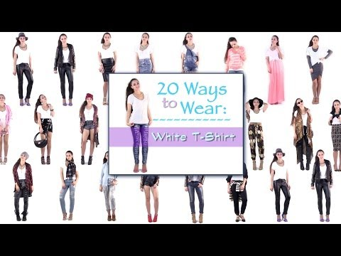 20 Ways to Wear a T Shirt ! Outfit Ideas How to Wear a T Shirt