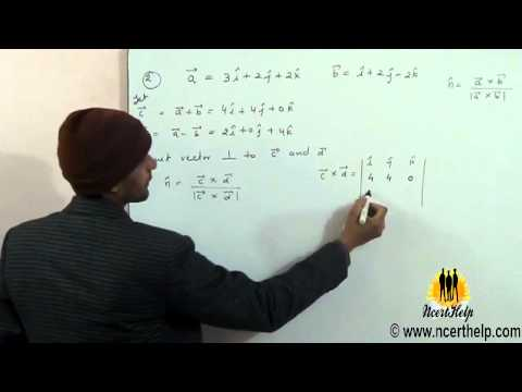 Find a unit vector perpendicular to each of the vector a –b and a+ b where a = 3i + 2j +2k and